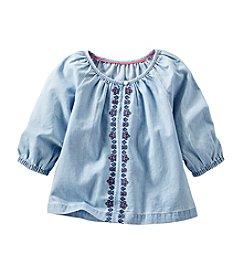 OshKosh B'Gosh® Girls' 2T-6X Embroidered Chambray Peasant Top