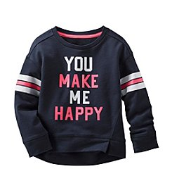 OshKosh B'Gosh® Girls' 2T-6X Long Sleeve Make Me Happy Sweatshirt