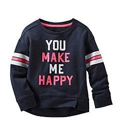 OshKosh B'Gosh® Girls' 2T-6X Long Sleeve Make Me Happy Sweatshirt