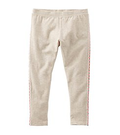 OshKosh B'Gosh® Girls' 2T-6X Side Striped Embroidered Leggings