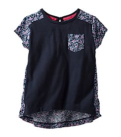 OshKosh B'Gosh® Girls' 2T-6X Short Sleeve Mixed Media Printed Tunic