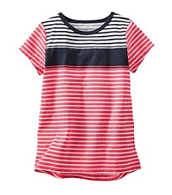 OshKosh B'Gosh® Girls' 2T-6X Striped Short Sleeve Tunic