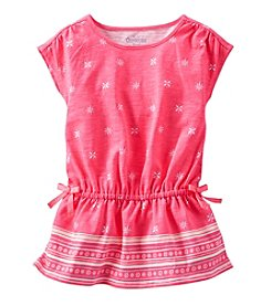 OshKosh B'Gosh® Girls' 2T-6X Allover Printed Cap Sleeve Tunic