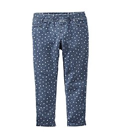 OshKosh B'Gosh® Girls' 2T-6X Heart Print Leggings