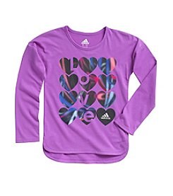 adidas® Girl's 2T-6X Long Sleeve Warm Up Tee