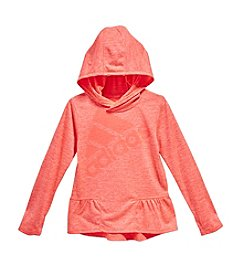 adidas® Long Sleeve Peplum Hoodie