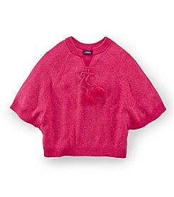 Chaps® Girls' 7-16 Poncho Pompom Sweater