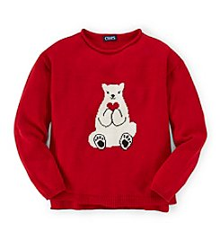 Chaps® Girls' 7-16 Polar Bear Sweater
