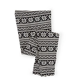 Chaps® Girls' 7-16 Snowflake Striped Leggings