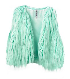 Beautees 7-16 Faux Fur Shaggy Vest