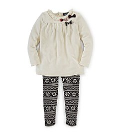 Chaps® Girl's 2T-6X Audrey Velour Leggings Set
