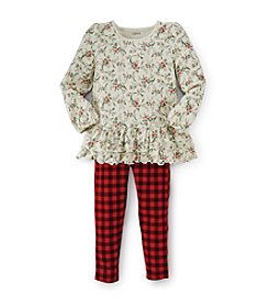 Chaps® Girl's 2T-6X Holiday Floral Legging Set