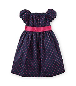 Chaps® Girl's 2T-6X Printed Dot Dress