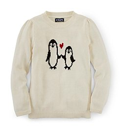 Chaps® Girl's 2T-16 Penguin Crew Sweater
