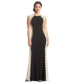 Xscape Lace Border Gown