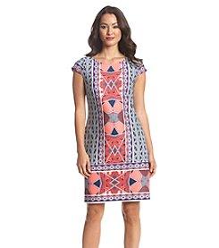 Nine West® Geometric Print Scuba Dress