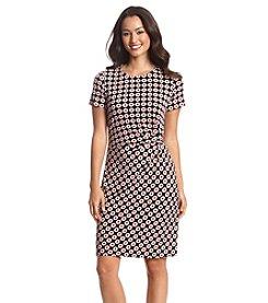 Nine West® Gathered Side Printed Dress
