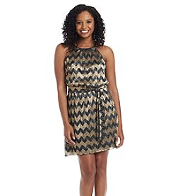 Guess Chevron Halter Dress