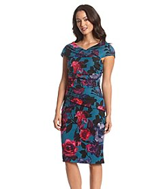 Adrianna Papell® Floral Ponte Dress