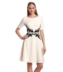 Adrianna Papell® Applique Fit And Flare Dress