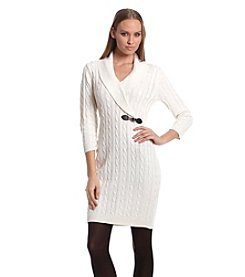 Calvin Klein Cableknit Sheath Sweater Dress