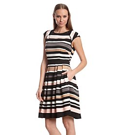 Vince Camuto® Striped Fit And Flare Dress