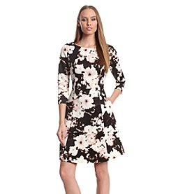 Vince Camuto® Floral Scuba Fit And Flare Dress