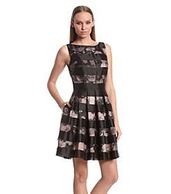 Vince Camuto® Shadow Stripe Fit And Flare Dress