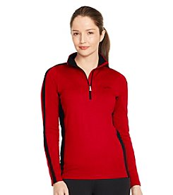 Lauren Active® Stretch-Jersey Mockneck Pullover