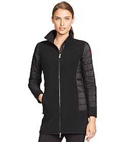 Lauren Active® Fleece-Panel Quilted Jacket