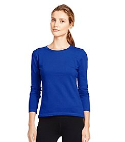 Lauren Active® Long-Sleeved Pique Shirt