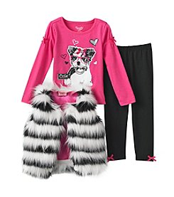 Nannette® Fur Vest Leggings Set