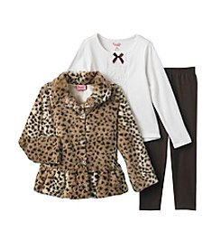 Nannette ® 3-pc. Fur Vest with Tee and Leggings