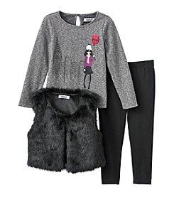 DKNY® Fur Vest Leggings Set