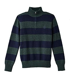 Chaps® Boys' 8-20 Quarter-Zip Striped Sweater