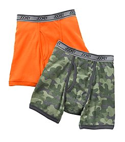 Jockey® Boys' Camouflage/Orange 2-Pk. Boxer Briefs