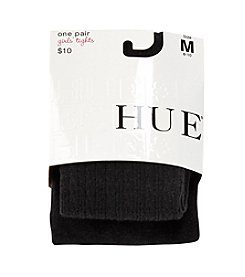 HUE® Girls' Black Cable Sweater Tights