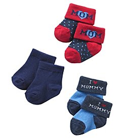 Cuddle Bear® Boys' 3-pk. I Love Mommy Socks