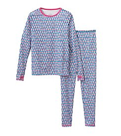 Cuddl Duds® Girls' 2-Piece Owl Print Tee And Pants Set