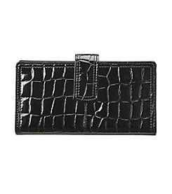 Relativity® Shiny Croco Checkbook