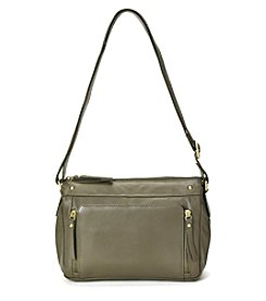 GAL Leather Top Zip Crossbody