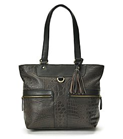 GAL Leather Crocodile Tote