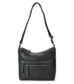 GAL Leather Double Zip Crossbody Hobo