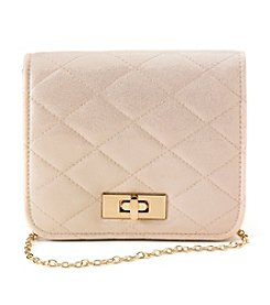 La Regale® Shimmer Quilted Flap Crossbody