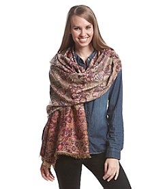 Collection 18 Folky Floral Pattern Scarf