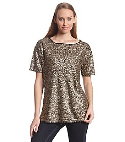 Ruff Hewn GREY Sequin Top