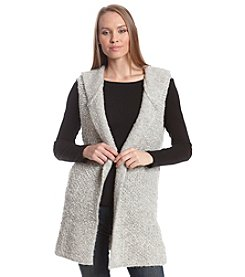 Ruff Hewn GREY Boucle Hooded Vest