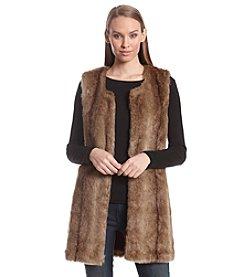 Ruff Hewn GREY Faux Fur Vest