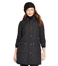 Lauren Ralph Lauren® Diamond-Quilted Full-Zip Coat