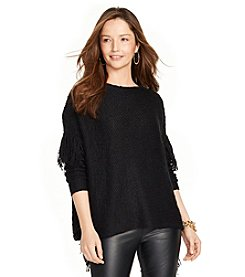 Lauren Ralph Lauren® Fringed Cotton-Blend Sweater